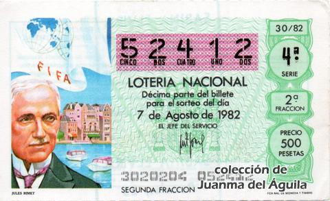 Décimo de Lotería 1982 / 30