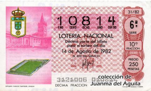 Décimo de Lotería 1982 / 31
