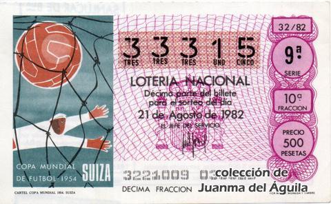 Décimo de Lotería 1982 / 32