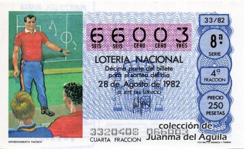 Décimo de Lotería 1982 / 33