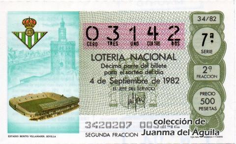 Décimo de Lotería 1982 / 34