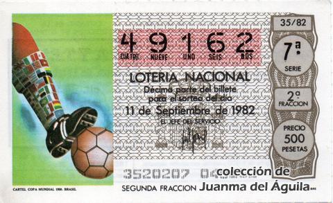 Décimo de Lotería 1982 / 35