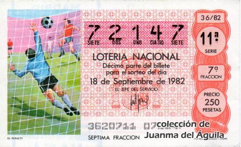 Décimo de Lotería 1982 / 36