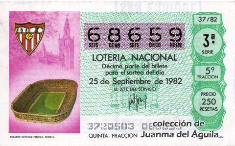 Décimo de Lotería 1982 / 37