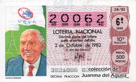 Décimo de Lotería 1982 / 38