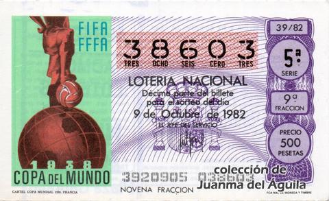 Décimo de Lotería 1982 / 39