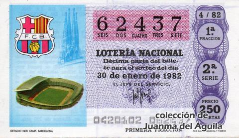 Décimo de Lotería 1982 / 4