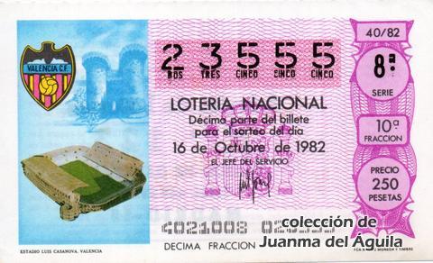 Décimo de Lotería 1982 / 40