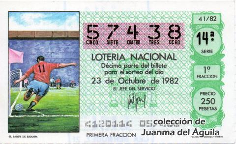 Décimo de Lotería 1982 / 41