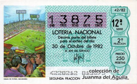 Décimo de Lotería 1982 / 42