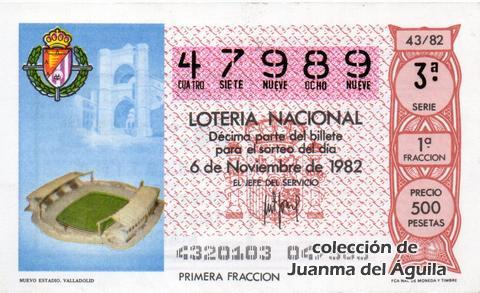 Décimo de Lotería 1982 / 43
