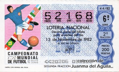 Décimo de Lotería 1982 / 44