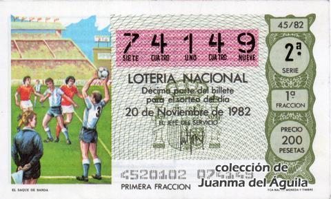 Décimo de Lotería 1982 / 45