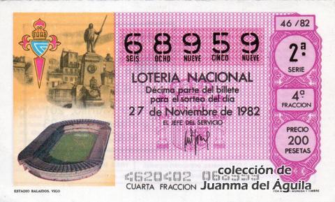 Décimo de Lotería 1982 / 46
