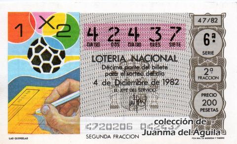 Décimo de Lotería 1982 / 47