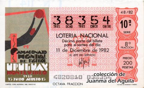 Décimo de Lotería 1982 / 48