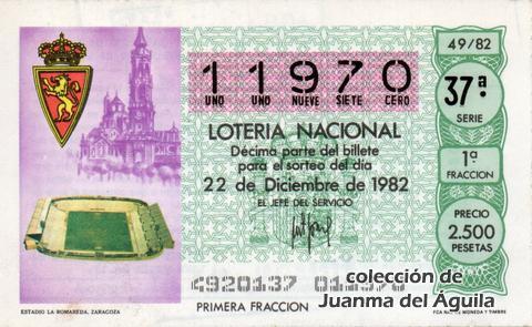 Décimo de Lotería 1982 / 49
