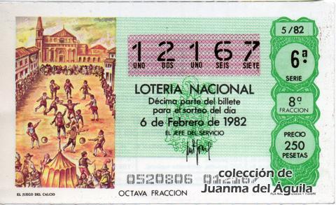 Décimo de Lotería 1982 / 5