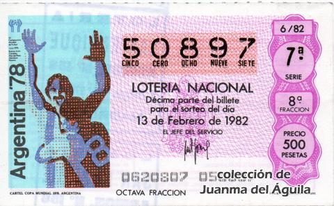 Décimo de Lotería 1982 / 6
