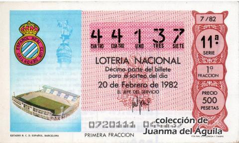 Décimo de Lotería 1982 / 7