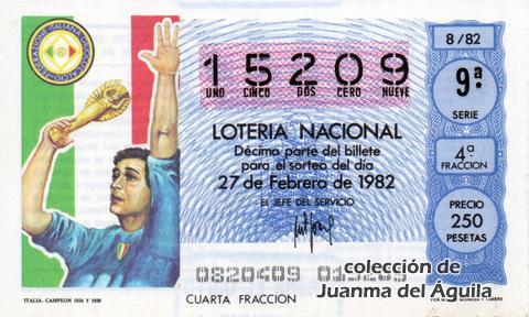 Décimo de Lotería 1982 / 8