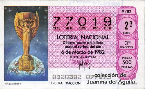 Décimo de Lotería 1982 / 9