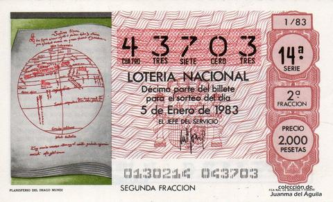 Décimo de Lotería 1983 / 1