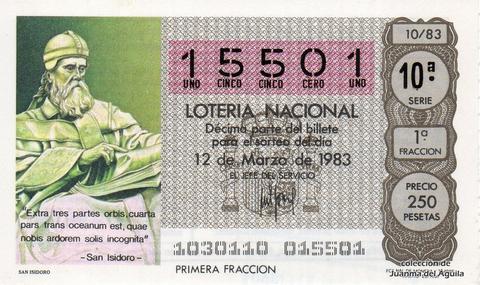Décimo de Lotería 1983 / 10