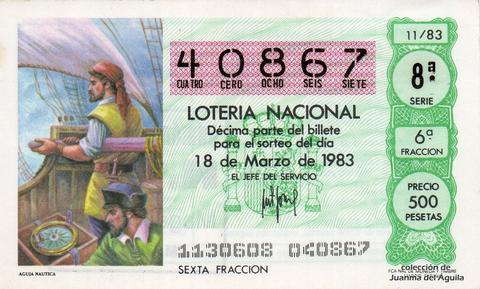 Décimo de Lotería 1983 / 11