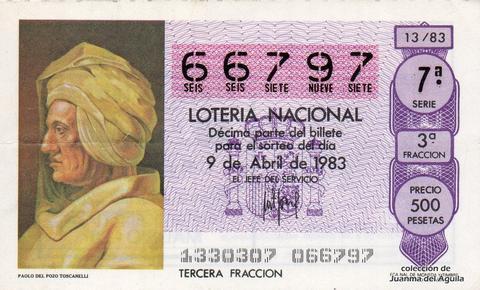 Décimo de Lotería 1983 / 13