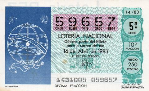 Décimo de Lotería 1983 / 14