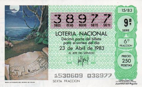 Décimo de Lotería 1983 / 15