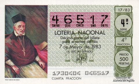 Décimo de Lotería 1983 / 17