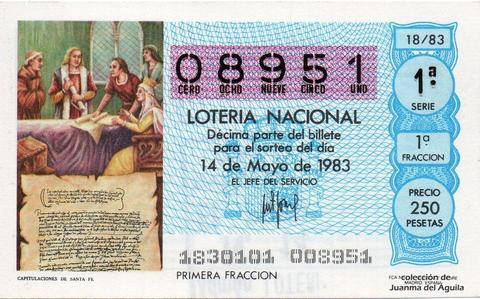 Décimo de Lotería 1983 / 18
