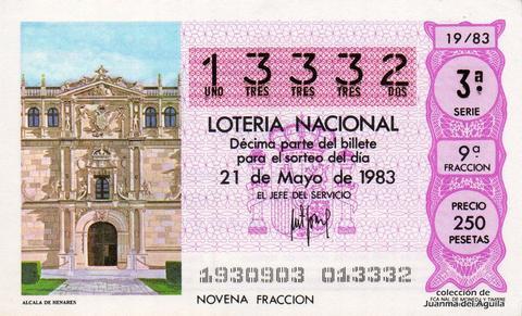 Décimo de Lotería 1983 / 19