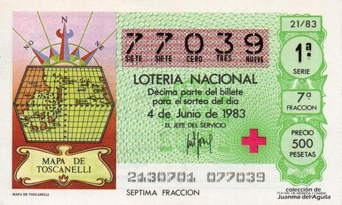 Décimo de Lotería 1983 / 21