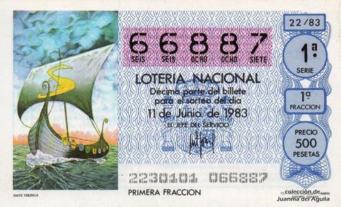 Décimo de Lotería 1983 / 22