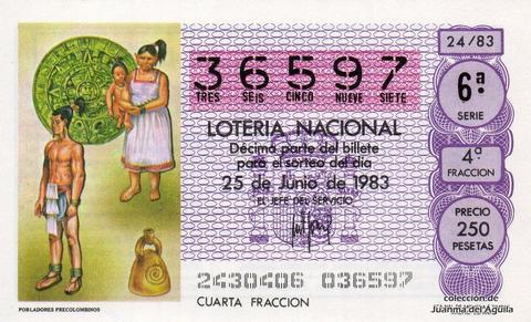 Décimo de Lotería 1983 / 24