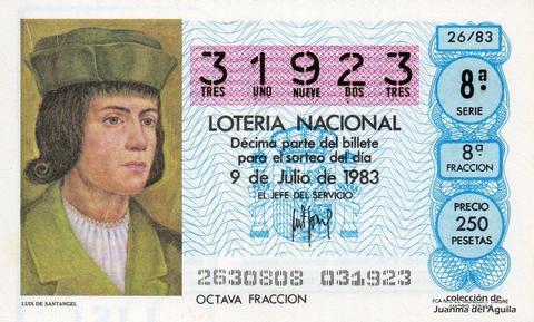 Décimo de Lotería 1983 / 26