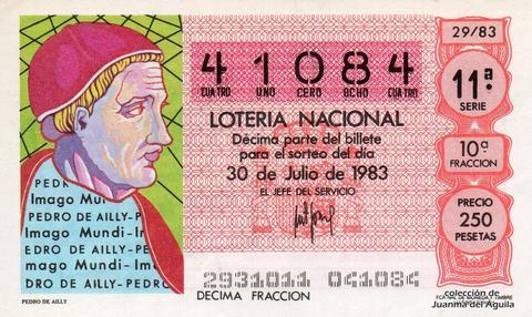 Décimo de Lotería 1983 / 29