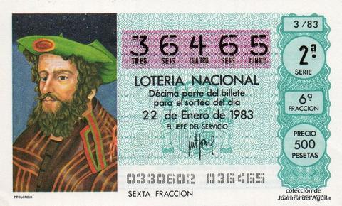 Décimo de Lotería 1983 / 3