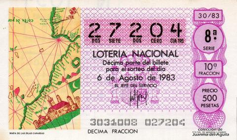Décimo de Lotería 1983 / 30