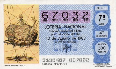 Décimo de Lotería 1983 / 31