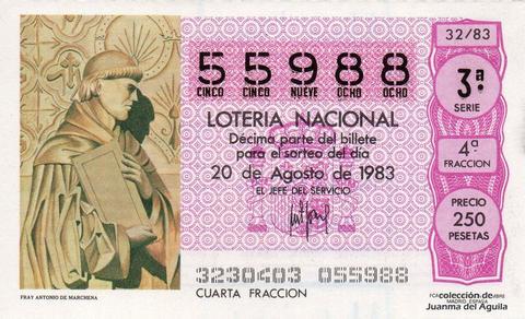 Décimo de Lotería 1983 / 32