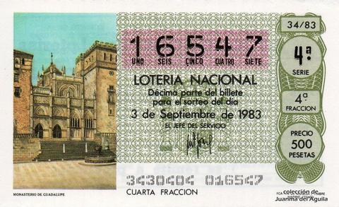 Décimo de Lotería 1983 / 34