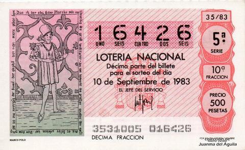 Décimo de Lotería 1983 / 35