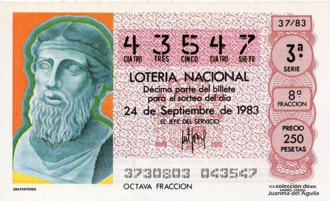 Décimo de Lotería 1983 / 37