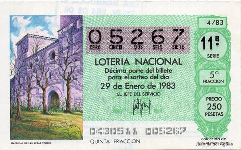 Décimo de Lotería 1983 / 4
