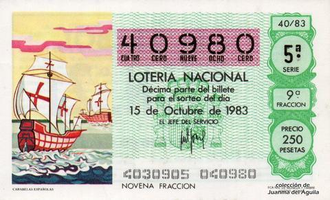 Décimo de Lotería 1983 / 40