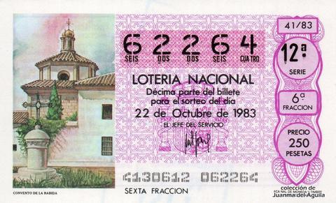 Décimo de Lotería 1983 / 41